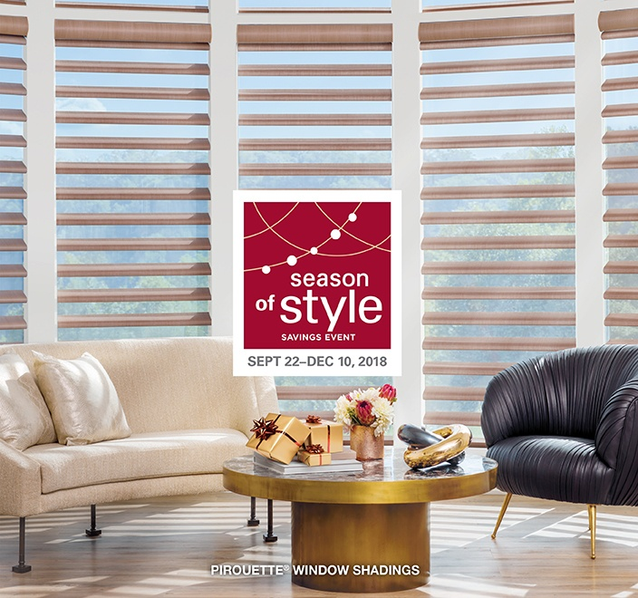 Hunter Douglas Season of Style Vignette Modern Roman Shades