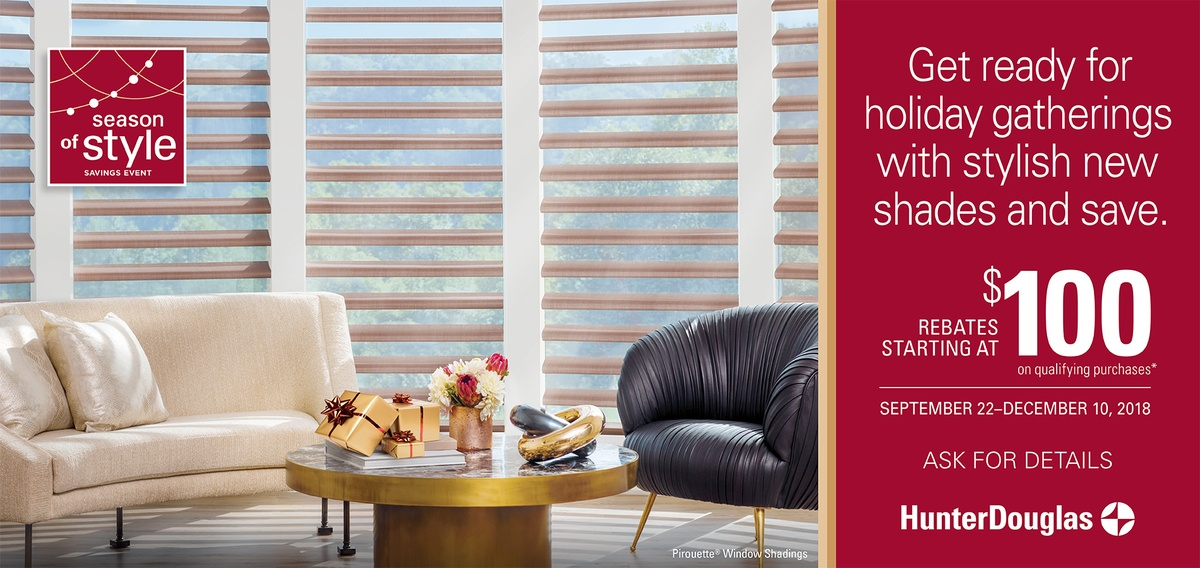 Hunter Douglas Season of Style Pirouette Shades Promotion